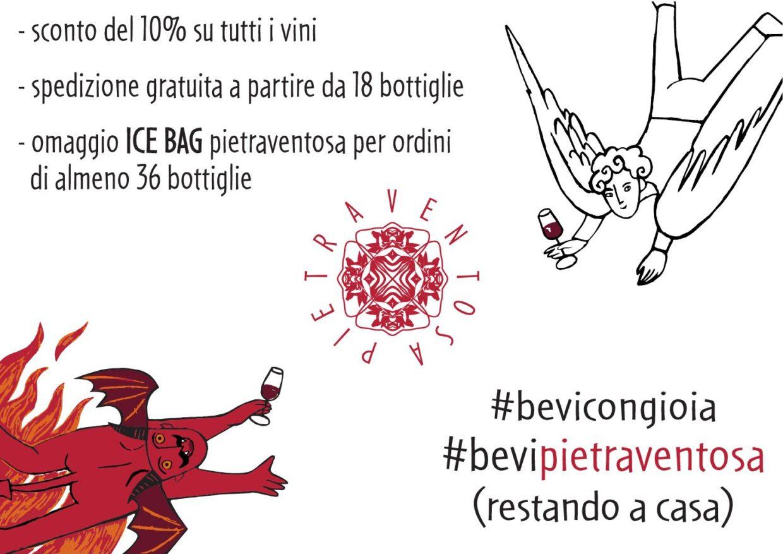 #bevipietraventosa #bevicongioia (restando a casa)